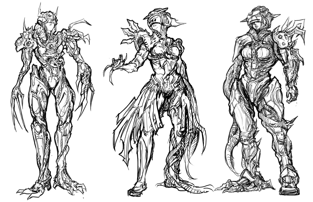 Infested Character – Sketches – TIM GUO DESIGN