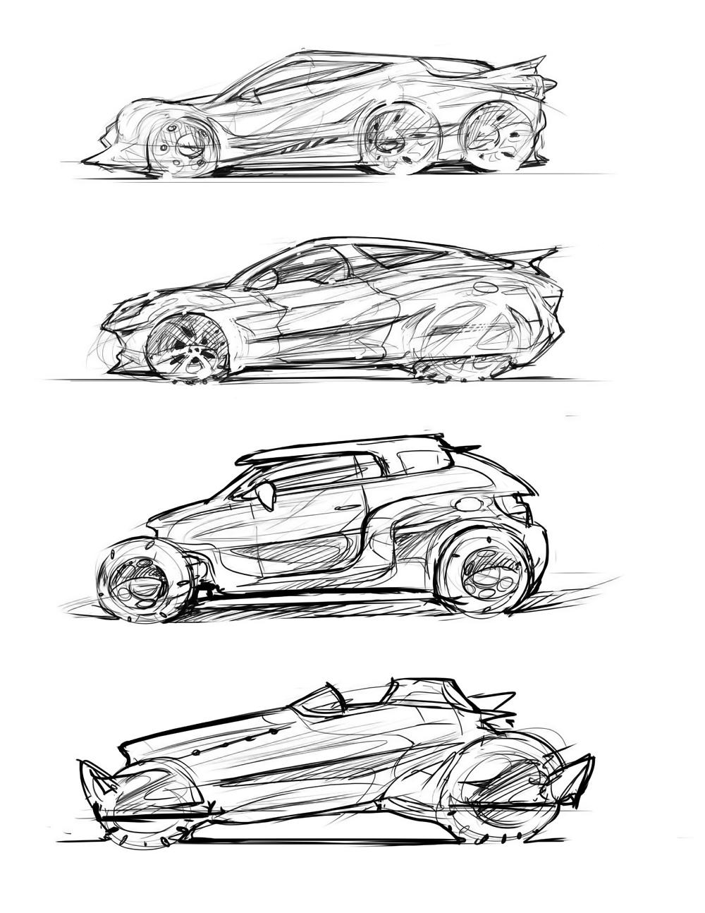 Vehicle Doodles – TIM GUO DESIGN