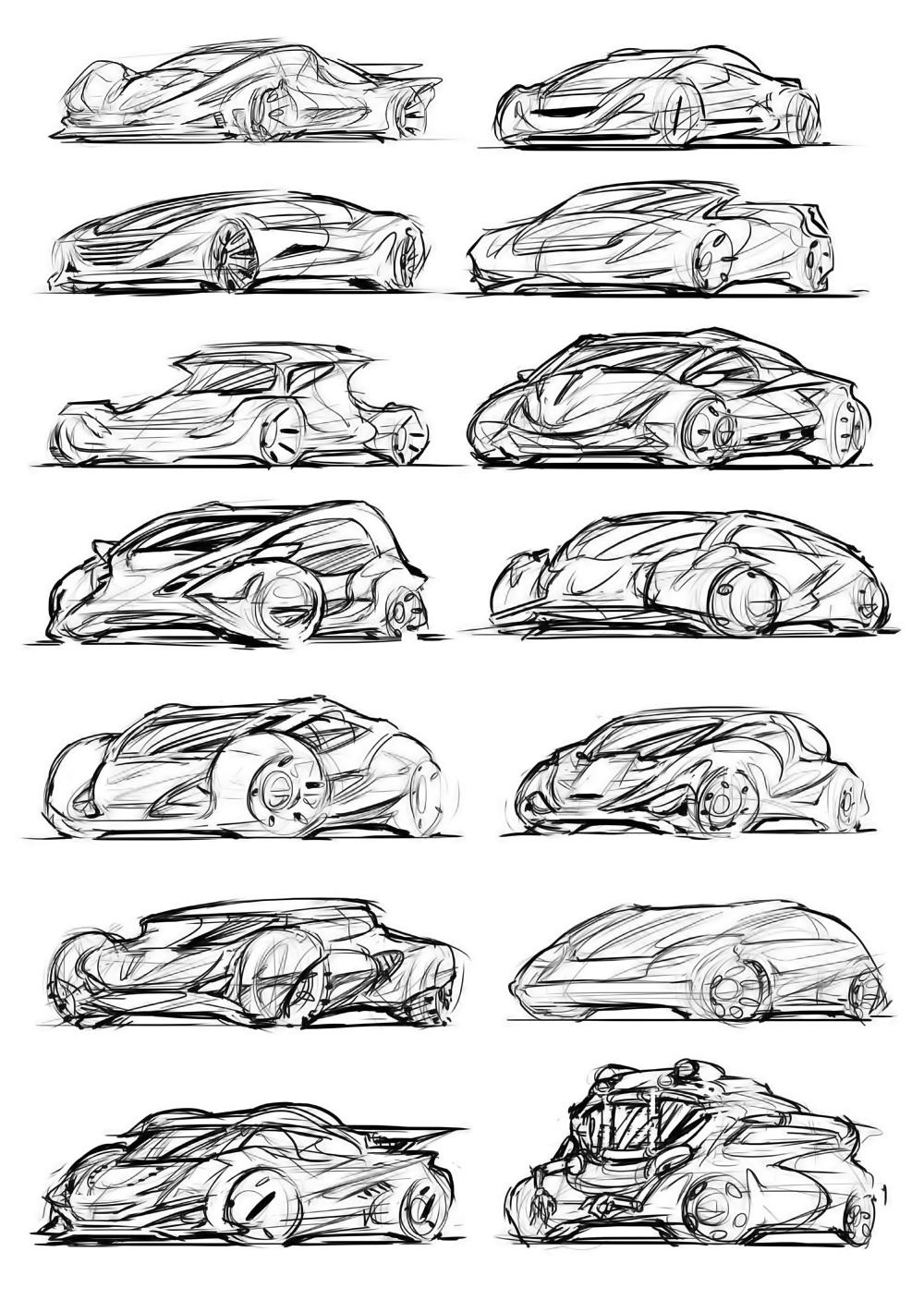 Vehicle Doodles Tim Guo Design